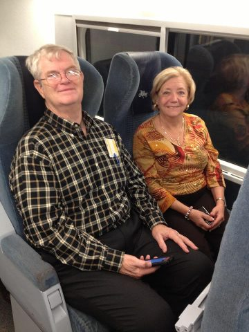 Bil & Martha Hollar train to Montrel