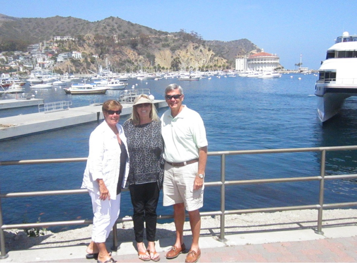 Linda & Gary with Juliet Foulds Walters on Catalina Island May 2014