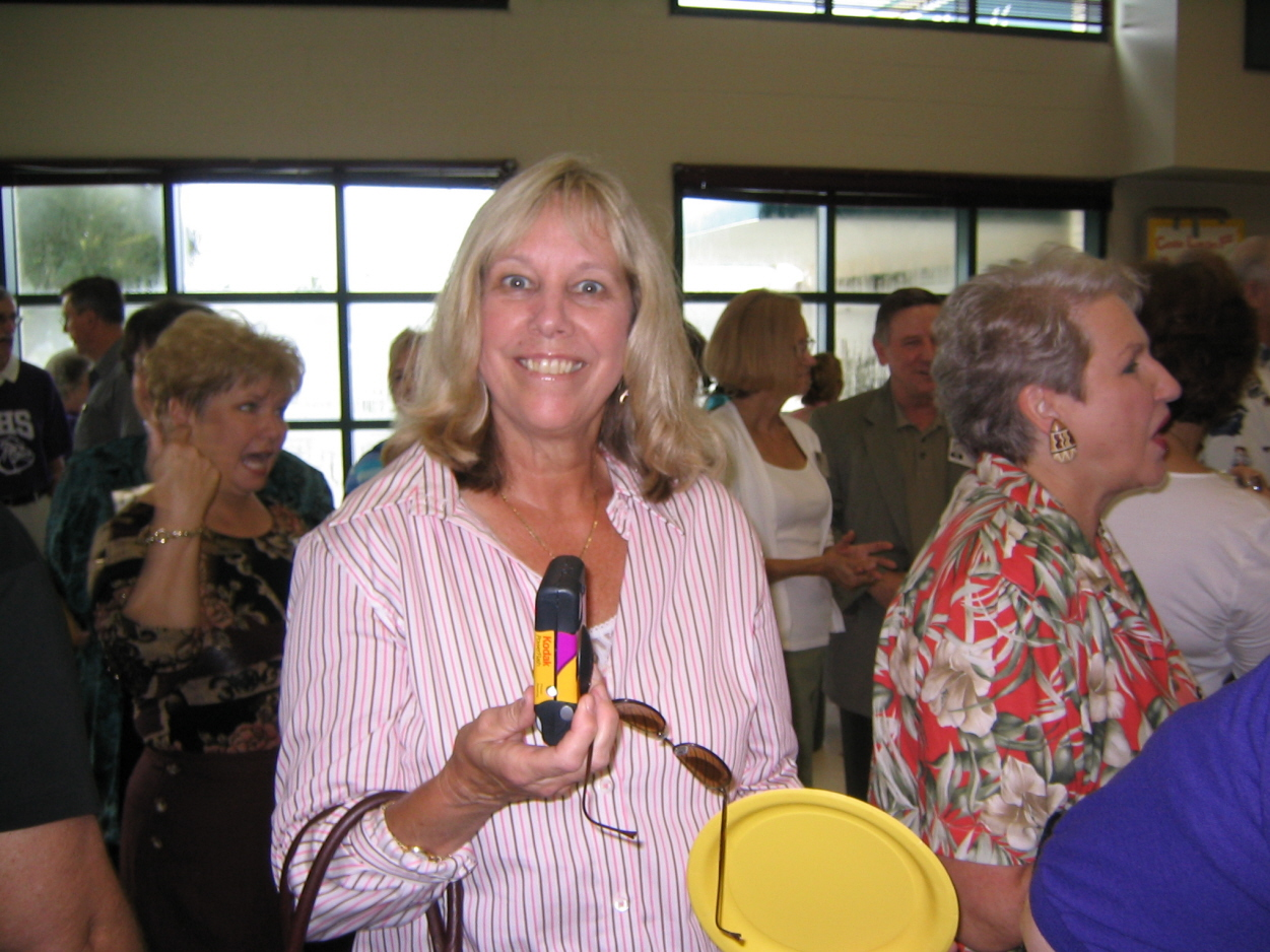 Juliet at alumni tea